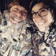 dad and i in the stand